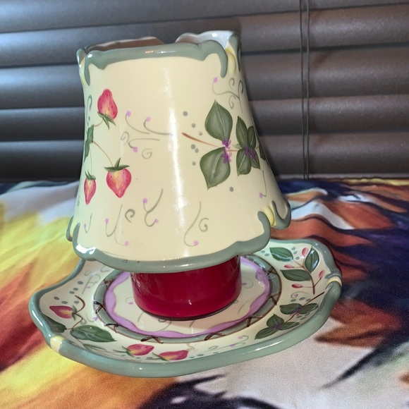 Yankee Candle Plate & Lampshade Ceramic Painted